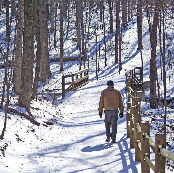 Hiking the Snow Covered Trails -  I miss how quiet it is when you are walking and snow is blanketing the world...