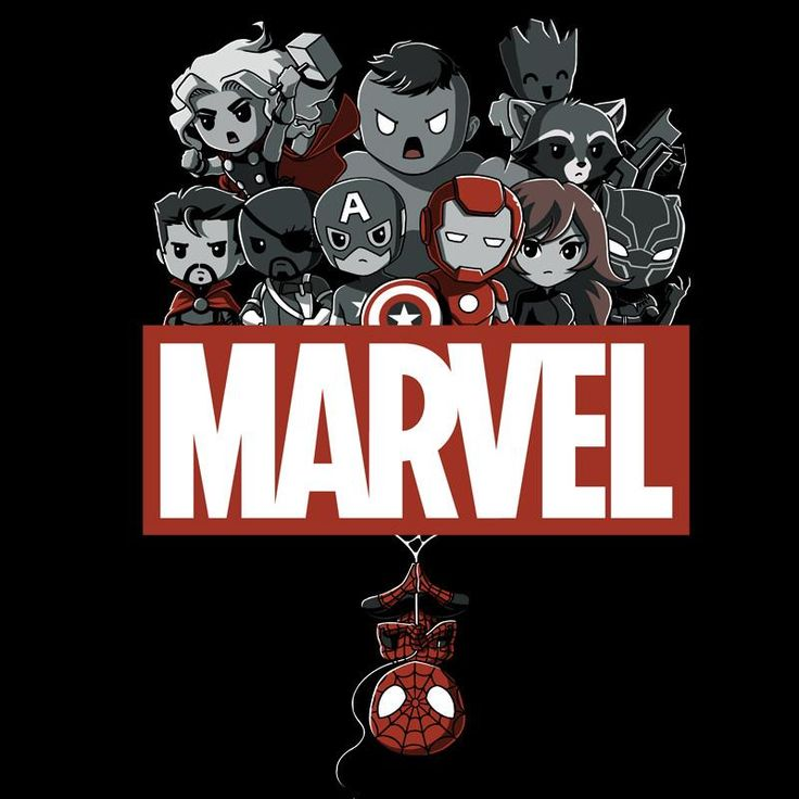 Marvel Superheroes T-Shirt Marvel TeeTurtle #biblioteques_UVEG