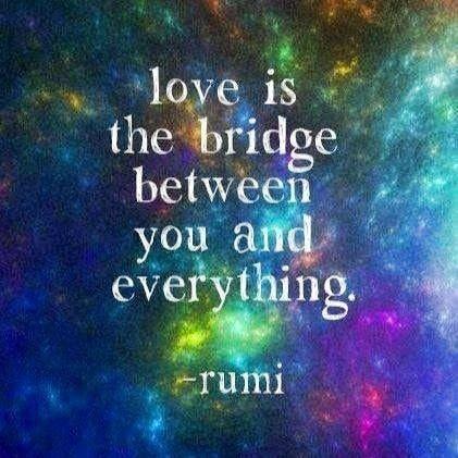 Love is the bridge between you and everything. #love #spreadthelove #meditation #positiveenergy #manifestation #healing #love #abundance #awareness #positivethoughts #affirmation #affirmations #powerthoughtsmeditationclub