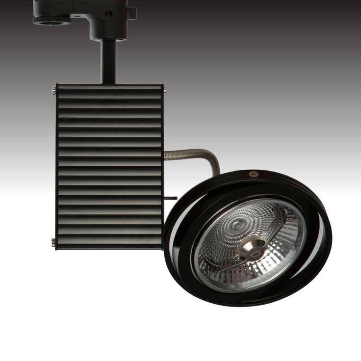 The TRi-TECH-LED in black. Adjustable trackspot with integral heatsink and spun aluminium housing. Integral mains dimmable driver and low glare lamp - from Photec Lighting