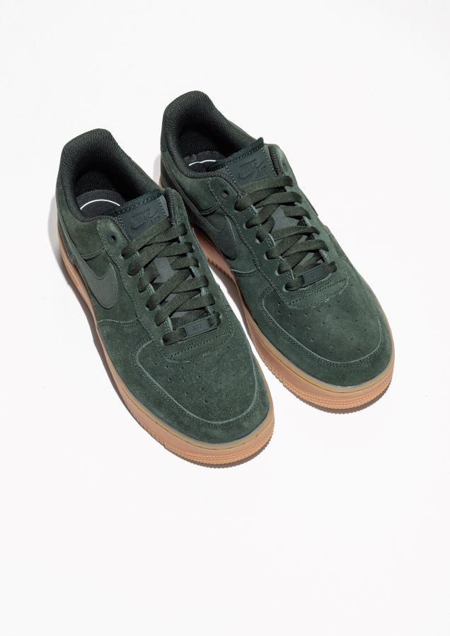 best sneakers 78342 2231a   Other Stories image 2 of Nike Air Force 1  07 in Green Yellowish Dark    Pretty damn gorge   Pinterest   Nike air force, Dark and Clothes