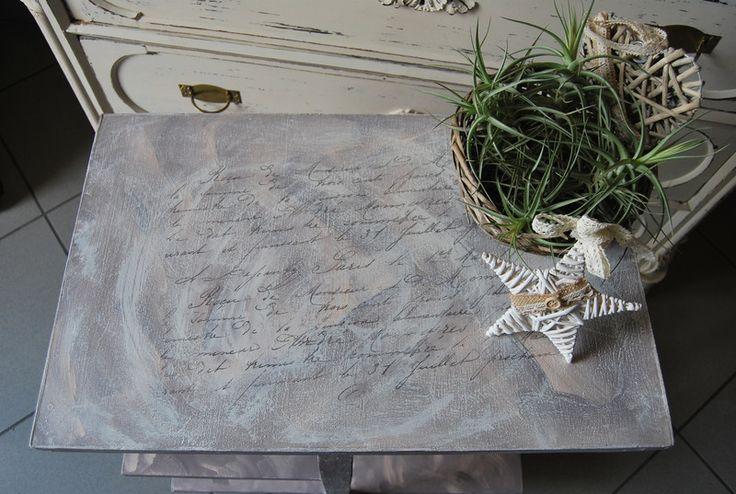 Tavolini - Tavolino vintage in stile Shabby - un prodotto unico di cristina_shabbyandchic su DaWanda