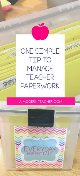 Organize Teacher Paperwork