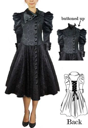 Victorian Coat Dress design   by Amber Middaugh. ---Save 37% at ChicStar.com --Coupon: AMBER37
