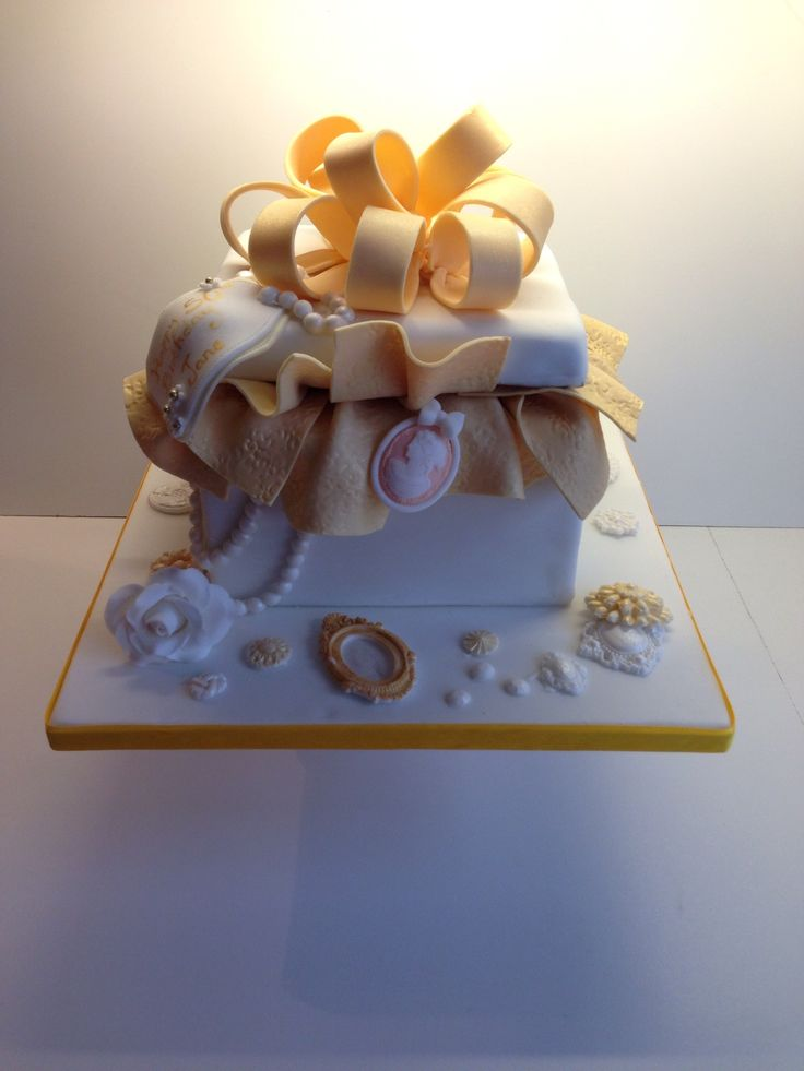 162 best gift box cakes and images on gift box cake negle Images