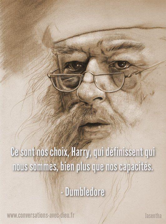"""""""Ce sont nos choix Harry qui définissent qui nous sommes bien plus que nos capacités."""" -Dumbledore http://ift.tt/1V9s8wk"""
