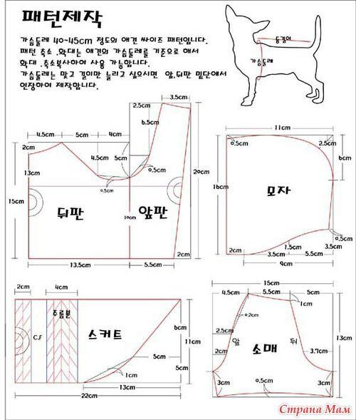Выкройка платья для собаки