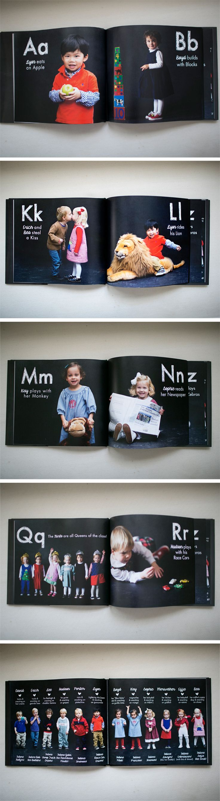 adorable school album--groups like shutterfly often offer free 8x8 albums, just pay shipping