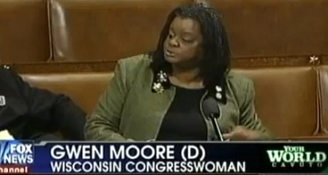 "THE RACIST CARD .... AGAIN ..... Congresswoman Gwen Moore Says Being Against Food Stamp FRAUD is Racist.  Food stamp fraud is a crime... So worrying about fraud is a legitimate concern.  But according to Gwen Moore, it is racist to be concerned.  I am SICK of this kind of CRAP.// I think ALL of us who pay for these scams are sick of being robbed by those who abuse the system! There is no oversight of that program..it's a free for all!! It really IS a ""free for all"" but us taxpayers!"