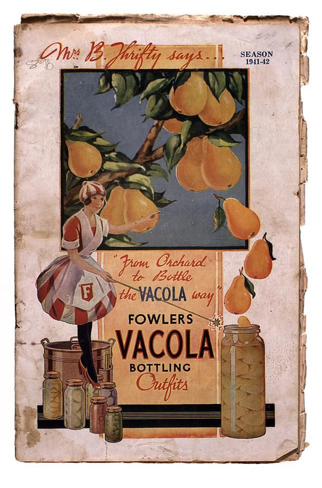 Catalogue - Fowler's Vacola, Bottling Outfits & Accessories, 1941-42
