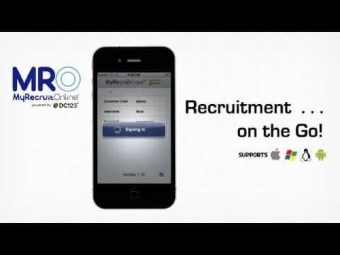 MyRecruitOnline iPhone App