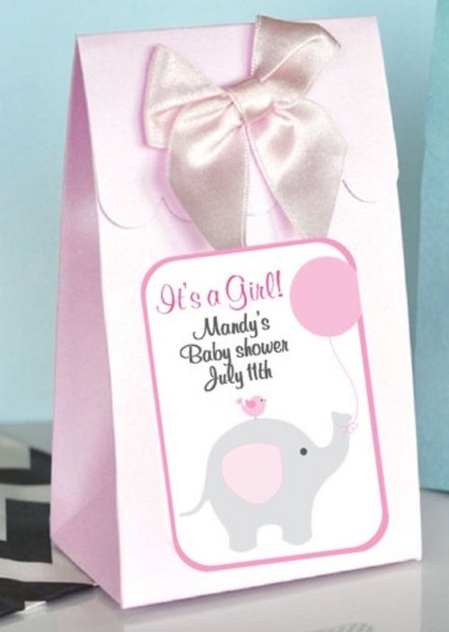 Personalized Little Peanut Baby Girl Baby Shower Boxes With Bows (set of 12 - as low as $1.50 each)