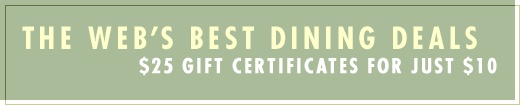 RESTAURANT.COM .... a great way to get greatly reduced pricing on dining out certificates to your favorite restaurants....in many cities. try an old favorite or try something new!