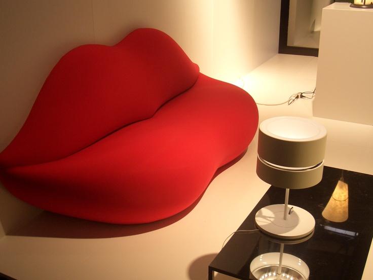 Bocca sofa by Gufram. www,gufram.it