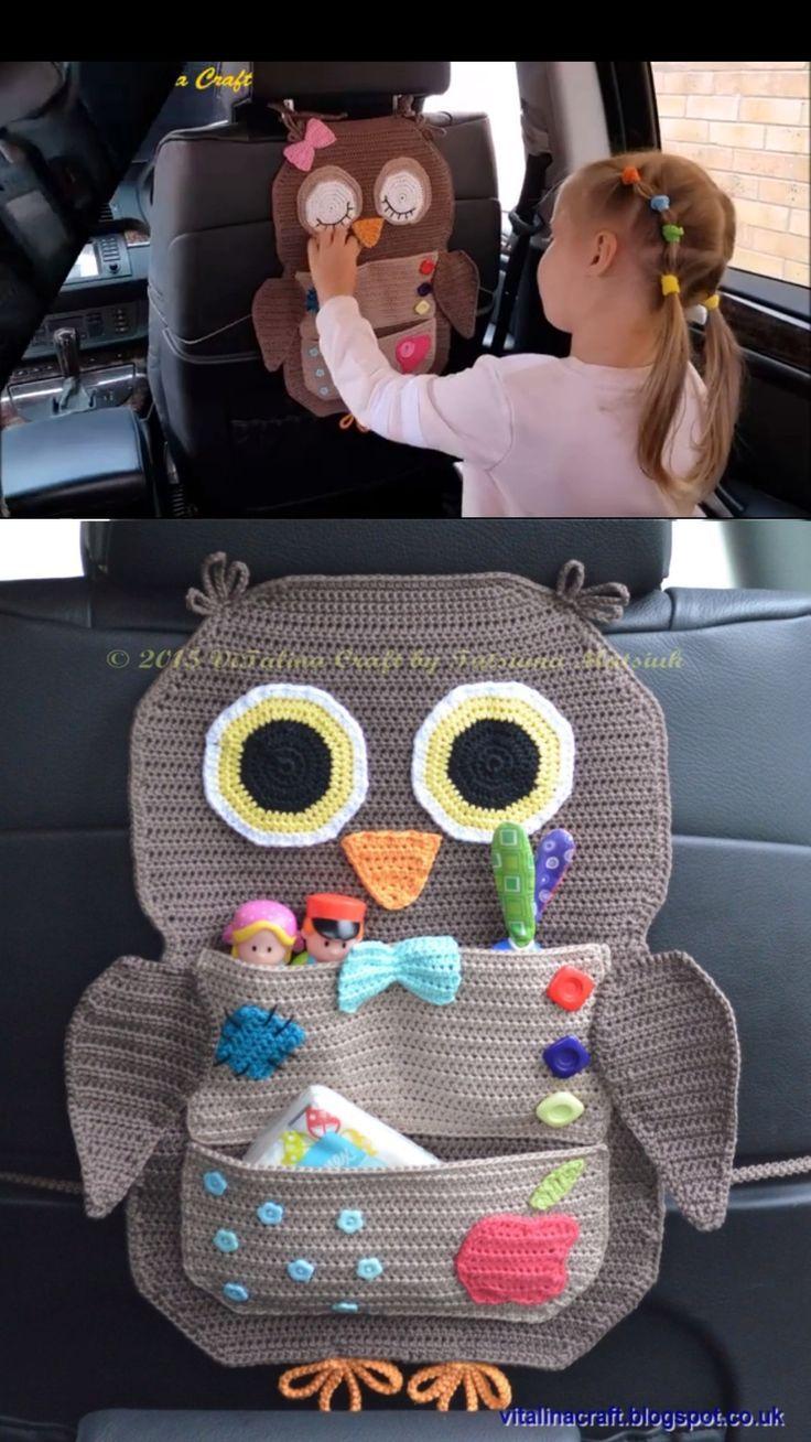 Crochet Car Organizer – Michelle {CraftyMorning.com