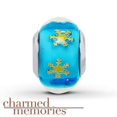 Charmed Memories Snowflake Charm Sterling Silver