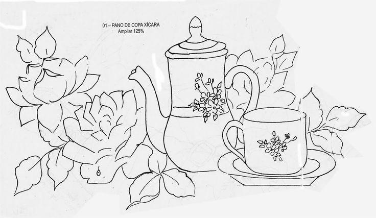 Artes da Nil - Riscos e Rabiscos: Bules com flores
