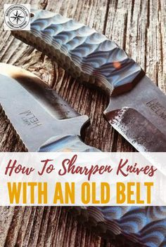 How to Sharpen Knives With an Old Belt - If you are stranded somewhere and have no sharpening tool, your leather belt will have your knife sharp again in no time at all. Isn't it weird to think leather actually works and can sharpen a blade!