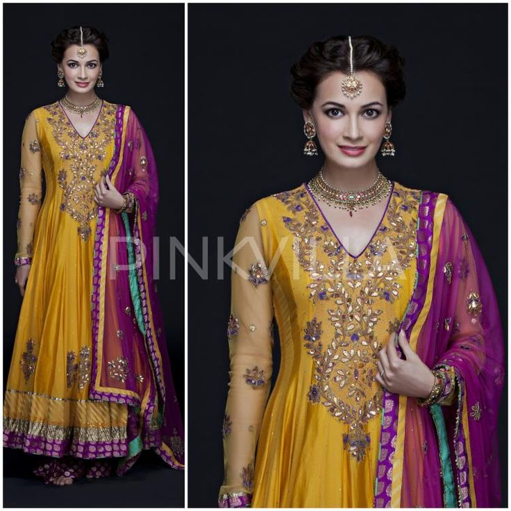 Yay or Nay : Dia Mirza in Ritu Kumar for her Mehendi Ceremony | PINKVILLA