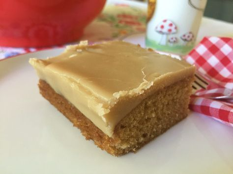 Brown Sugar Sheet Cake with Salted Caramel Stove-Top Buttercream | Food for a Year: