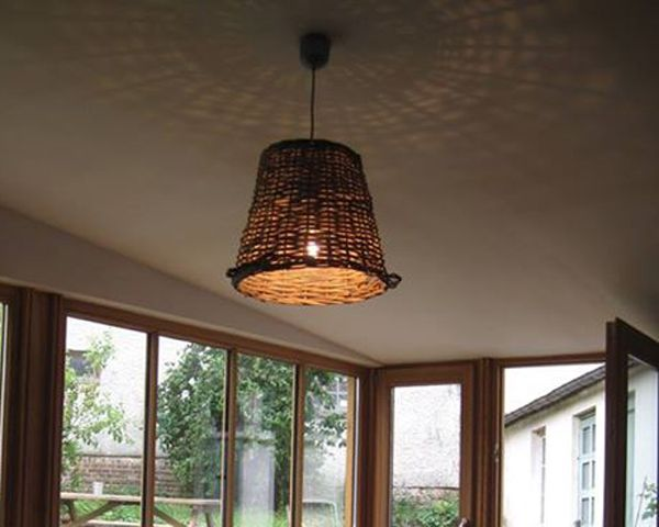 Suspension panier osier