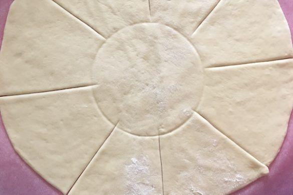 Stella di pizza con ricotta prosciutto crudo e cavolo viola | Tempodicottura.it