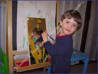 Dipingere sullo specchio e monoprinting