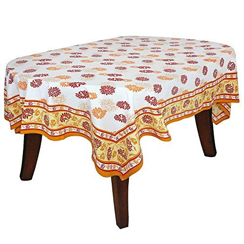 Home D Accessories Rectangle Cotton Tablecloth Inch Indian Colorful Floral Print