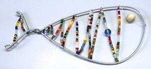 Glass beads fish - preschoolers