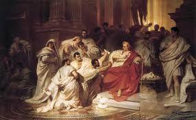 Caesar veroverde Gallië en kreeg veel aanhangers onder zijn legioenen. Caesar werd vermoord, omdat anderen vonden dat hij teveel macht gekregen had en daarom ontstonden er burgeroorlogen.