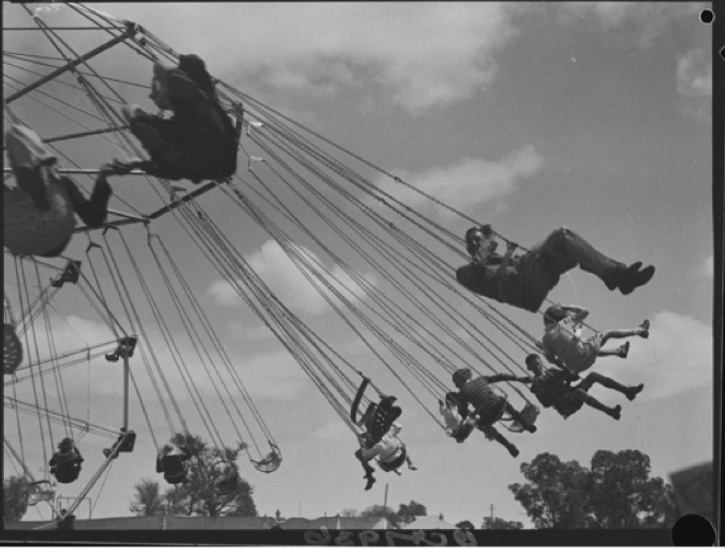 Chair swing at the Perth Royal Show, 1938.