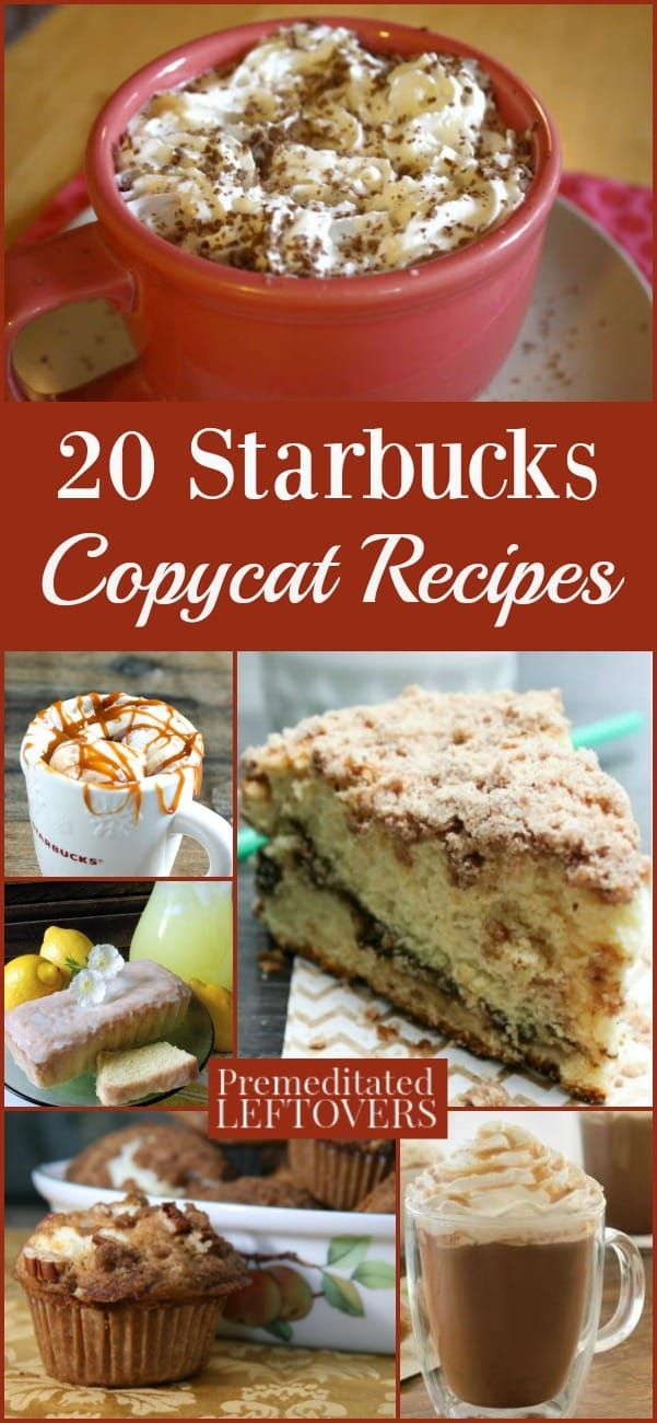 Have you ever wanted to try to make your favorite Starbucks treat? You can with these Starbucks Copycat Recipes for 20 of your favorite drinks and pastries.