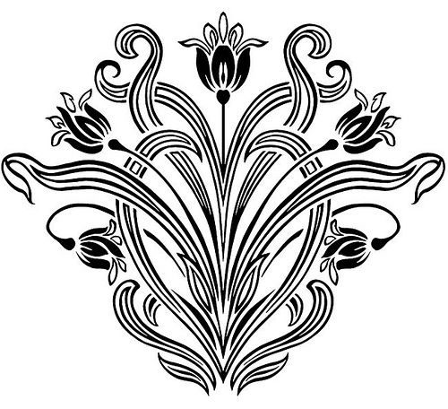 Art Nouveau Patterns | Art Nouveau Floral Designs 3