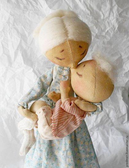 Коллекционные куклы ручной работы. Ярмарка Мастеров - ручная работа. Купить Нежность. Handmade. Мама, пара, корица