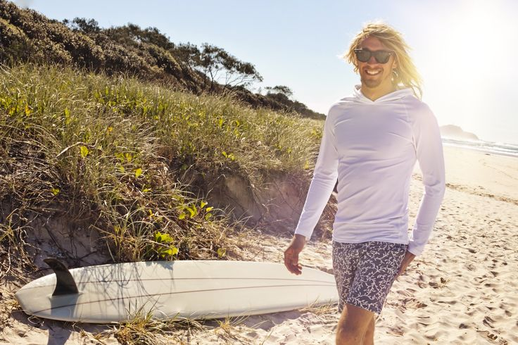 Rashies with a hood • protection from the elements for outdoor people who want freedom in the sun • designed in Byron Bay •  handmade in Australia UPF50+ sun protection