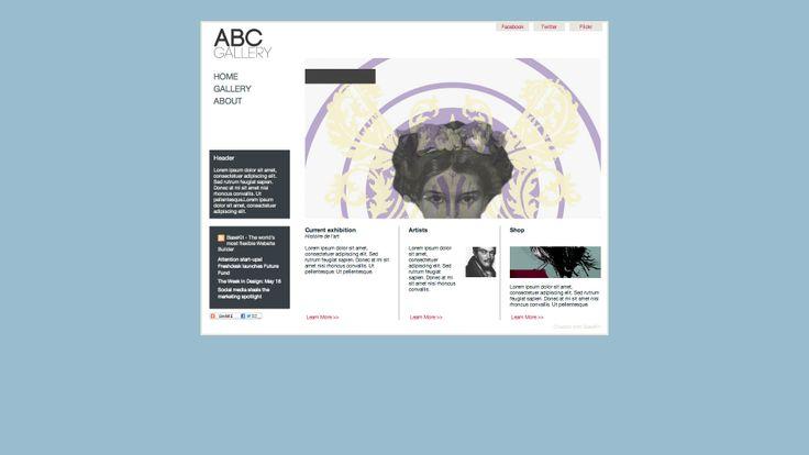 Diseño web para galerias de arte y similares