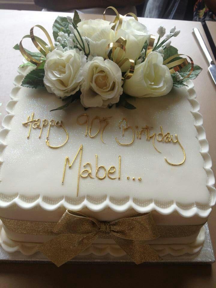 Mum 39 s 90th birthday cake cake decorating pinterest for 90th birthday cake decoration ideas