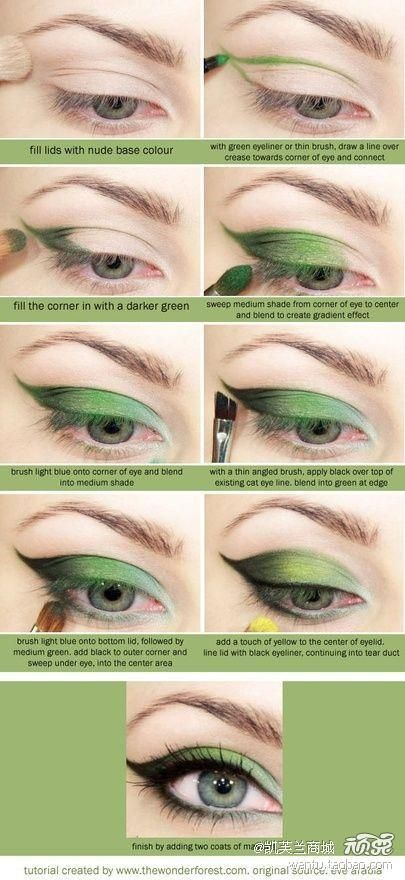 Green Eyeshadow How-To