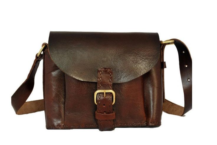 Women's Leather DARK BROWN LEATHER SLING BAG