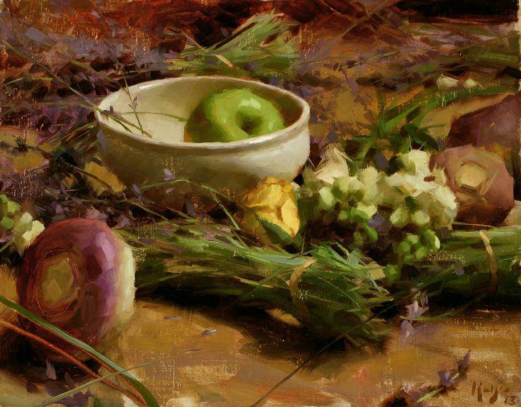 유 Still Life Brushstrokes 유 Nature Morte Painting by Daniel Keys