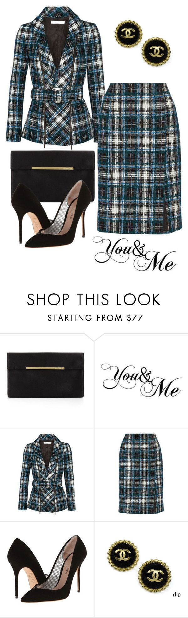 """Y.2 [Crown Princess Helene] : FEB 7 - Presenting Award at World Cancer Day"" by tigerlily ❤ liked on Polyvore featuring BCBGMAXAZRIA, WALL, Oscar de la Renta, Kurt Geiger and Chanel"