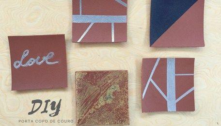 DIY - Porta-copo de couro