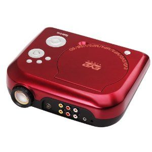 For outdoor movies! Koolertron Home Theater Portable DVD Projector with TV Receiver PAL Ntsc Secam Sd MMC USB - Red