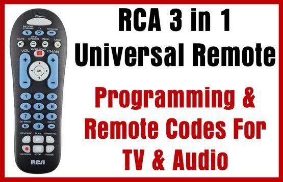 RCA 3 in 1 Universal Remote - Programming & Remote Codes For TV & Audio