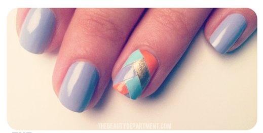 Nail art a spina di pesce