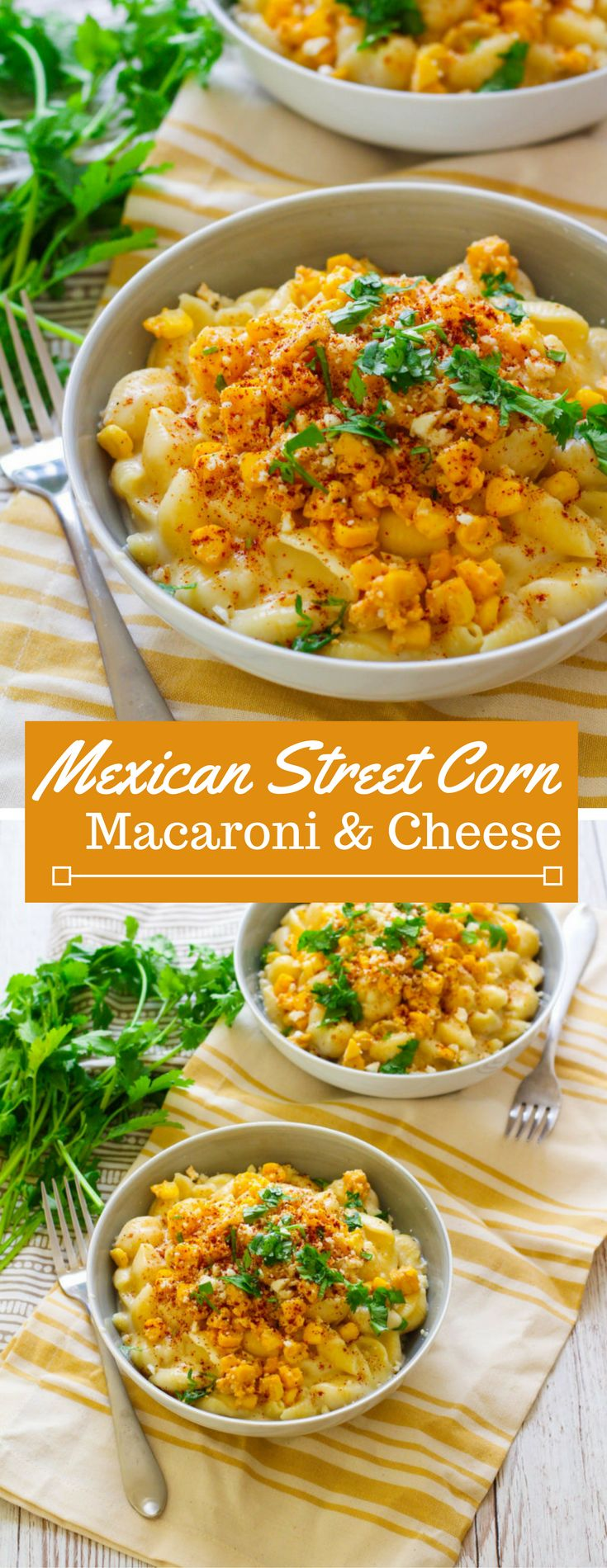 Combine the best of both worlds: cheesy, creamy homemade macaroni and cheese with the savory, slightly spicy goodness of Mexican street corn.