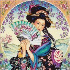 Precioso gráfico de una geisha...