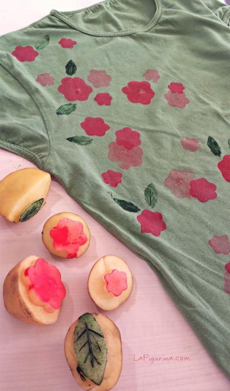 Scopri come ravvivare una vecchia maglietta con i timbri fai da te http://www.lafigurina.com/2014/10/tutorial-come-realizzare-dei-timbri-fai-da-te-per-decorare-una-maglietta/
