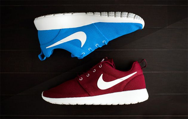 Nike Roshe Run Bordeaux Et Nike Roshe Run Bleu