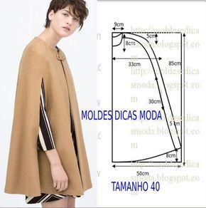 Resultado de imagen para casaco tipo capa
